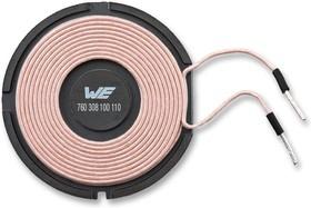 760308100110, Катушка для зарядки, беспроводной, Серия WE-WPCC, 24 мкГн, ± 10%