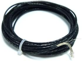 Фото 1/2 Провод монтажный МГЛФ 1,5 мм ( черный ) 1 м