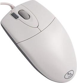 Мышь A4 OP-720 оптическая проводная USB, белый [op-720usb(wh)]