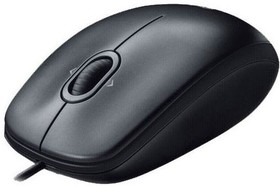 Мышь LOGITECH M100 оптическая проводная USB, черный [910-005003]