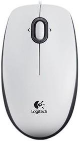 Мышь LOGITECH M100 оптическая проводная USB, белый [910-001605]