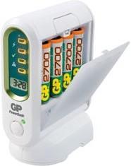 GP PB80GS (V800C), Зарядное устройство+ аккумулятор GP PowerBank, 4 шт AA, 2700мAч