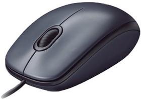 Мышь LOGITECH M90, оптическая проводная, USB, retail, черный [910-001794]