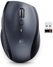 Мышь LOGITECH M705 лазерная беспроводная USB, серебристый и черный [910-001949]