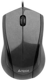 Мышь A4 V-Track Padless N-400-2 оптическая проводная USB, черный и красный