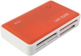 Картридер внешний PC PET CR-211ROG, оранжевый