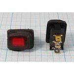 Фото 3/5 Клавишный герметичный выключатель красный,с подсветкой 220В/10А, с фиксацией, 10681 ПКл\ 3T\10А\ON-OFF\\ ILкр\герм\R13-66B8