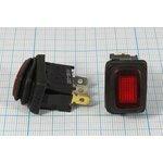 Фото 4/5 Клавишный герметичный выключатель красный,с подсветкой 220В/10А, с фиксацией, 10681 ПКл\ 3T\10А\ON-OFF\\ ILкр\герм\R13-66B8