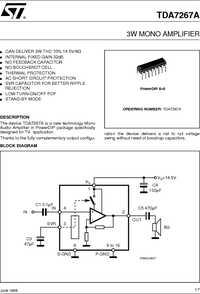 Datasheet TDA7267A производства STMicroelectronics.