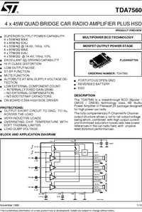 TDA7560 datasheet.