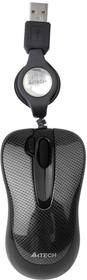 Мышь A4 V-Track Padless N-60F-2 оптическая проводная USB, черный