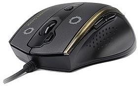 Мышь A4 V-Track F3 оптическая проводная USB, черный и золотистый