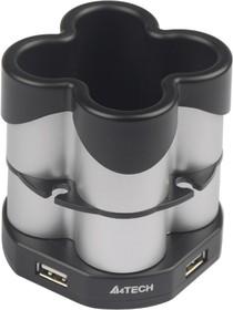 HUB-77 (SILVER+BLACK), Хабы(разветвители) A4 HUB-77 (подставка для ручек) серебристый [hub-77 (silver+black)]