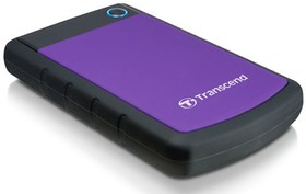 Внешний жесткий диск TRANSCEND StoreJet 25H3P TS500GSJ25H3P, 500Гб, фиолетовый