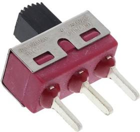 1101M2S3CQE2, Switch Slide ON None ON SPDT Top Slide 6A 250VAC 28VDC PC Pins Thru-Hole Bulk