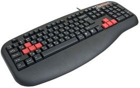 Клавиатура A4 X7-G600, PS/2, c подставкой для запястий, черный [g600 ps]