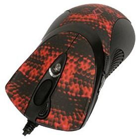 Мышь A4 XL-740K лазерная проводная USB, черный и красный [xl-740k usb]
