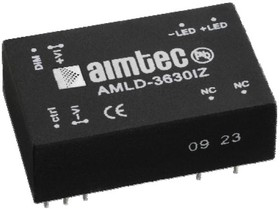 AMLD-3660IZ, DC/DC LED Driver, 21Вт, вход 5…36В DC, выход 600мА