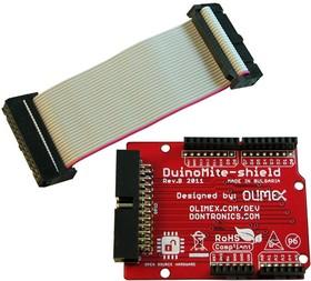 Фото 1/3 DUINOMITE-SHIELD, Плата расширения для модулей DUINOMITE форм-фактора Arduino с 26-pin коннектором