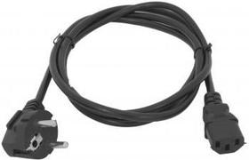 Кабель IEC320 IEC C13 (прямой) - Евровилка (угловой), 1.8м, черный