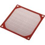 FGF-80/M (K-MF08E) красный, Фильтр для вентилятора 80х80мм (металл)