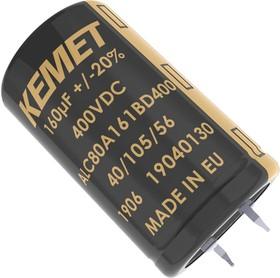 ALC80A271EB450, Электролитический конденсатор, 270 мкФ, 450 В, ALC80 Series, 9000 часов при 105°C, ± 20%