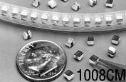 PE-1008CM101KTT, Inductor RF Chip Wirewound 0.1uH 10% 25MHz 65Q-Factor Ceramic 0.65A 0.15Ohm DCR 1008 T/R