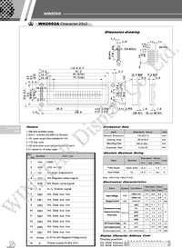 Datasheet WH1602L производства Winstar.