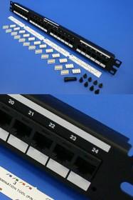"""DP24688TP, Патч-панель 19"""" 24 порта RJ-45, категория 6, Giga-Punch (Panduit)"""