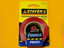 "12292-R-15-10, Изолента STAYER ""PROFI"" красная ПВХ, 15мм х 10м х 0,18мм"