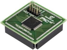 MA320001, Дочерняя плата, модуль на базе PIC32MX360F512L, совместим с макетной платой Explorer 16