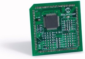 Фото 1/2 MA330031, Дочерняя плата, модуль на базе dsPIC33EP256MC506, совместим с платами MCHV-2 и MCLV-2