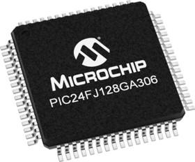 Фото 1/2 PIC24FJ128GA306-I/PT, Микроконтроллер, 16-бит PIC RISC, 128KB Flash, 2.5V/3.3V, Automotive [TQFP-64]