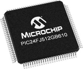 PIC24FJ512GB610-I/PT, Микроконтроллер, 16-бит PIC RISC, 512KB Flash, 3.3V [TQFP-100]