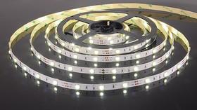 30Led-7.2W-IP20-12V белый, Лента светодиодная, 30SMD(5050)/m, 7.2Вт/м, цена за катушку 5м