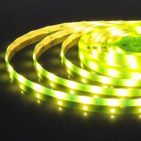 30Led-7.2W-IP65-12V зеленый, светонакопительный эффект, Лента светодиодная, 30SMD(5050)/m, цена за катушку 5м