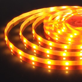 30Led-7.2W-IP65-12V оранжевый, светонакопительный эффект, Лента светодиодная, 30SMD(5050)/m, 7.2Вт/м, цена за катушку 5м