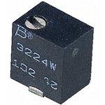 Фото 5/7 3224W-1-101E, 100 Ом, 11 оборотов, Резистор подстроечный