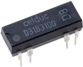 D31B3100, SP-NC Reed Relay, 0.5 A, 5V dc