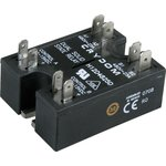 H12D4825D, Реле 4-15VDC, 25A/480VAC x2