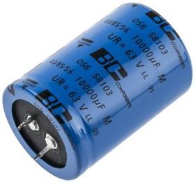 MAL205658103E3, Cap Aluminum Lytic 10000uF 63V 20% (35 X 50mm) Snap-In 10mm 0.035 Ohm 5260mA 5000h 85C Bulk