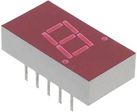 Фото 1/2 5082-7613, 7-сегментный светодиодный дисплей, Красный, 20 мА, 2.1 В, 1.115 мкд, 1, 7.6 мм