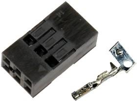 BLD-6, Розетка на кабель 2х6 2,54мм с контактами