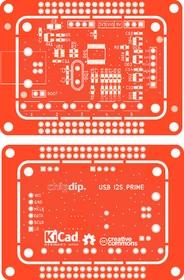 Печатная плата USB I2S PRIME, Печатная плата с разводкой, FR4 69х51мм (1.5мм, 18мкм)
