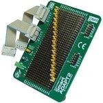 MIKROE-205, SmartADAPT2 Board, Макетная плата для быстрого конфигурирования 2-х портов на отладочных платах