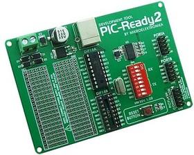 MIKROE-414, PIC-Ready2 Board, Макетная плата для 18-pin PIC-микроконтроллеров