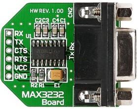 Фото 1/2 MIKROE-602, MAX3232 Board, Периферийный модуль для подключения через RS232-интерфейс