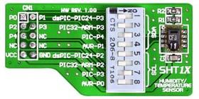 Фото 1/3 MIKROE-430, SHT1X Board, Плата на базе датчика температуры/влажности SHT11