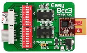 Фото 1/2 MIKROE-435, EasyBee3 Board, Модуль приемо/передатчика 2.4 GHz IEEE 802.15.4 на базе MRF24J40MA
