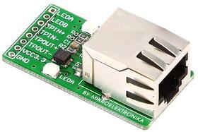 Фото 1/4 MIKROE-224, Ethernet Connector Board, Дочерняя плата с Ethernet-интерфейсом